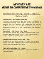 competitive swimming county regional national levels