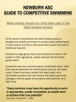 what events should my child take part in the n d graded series