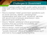 challenges to government