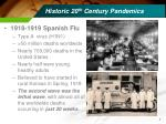 historic 20 th century pandemics