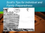scott s tips for individual and family preparedness