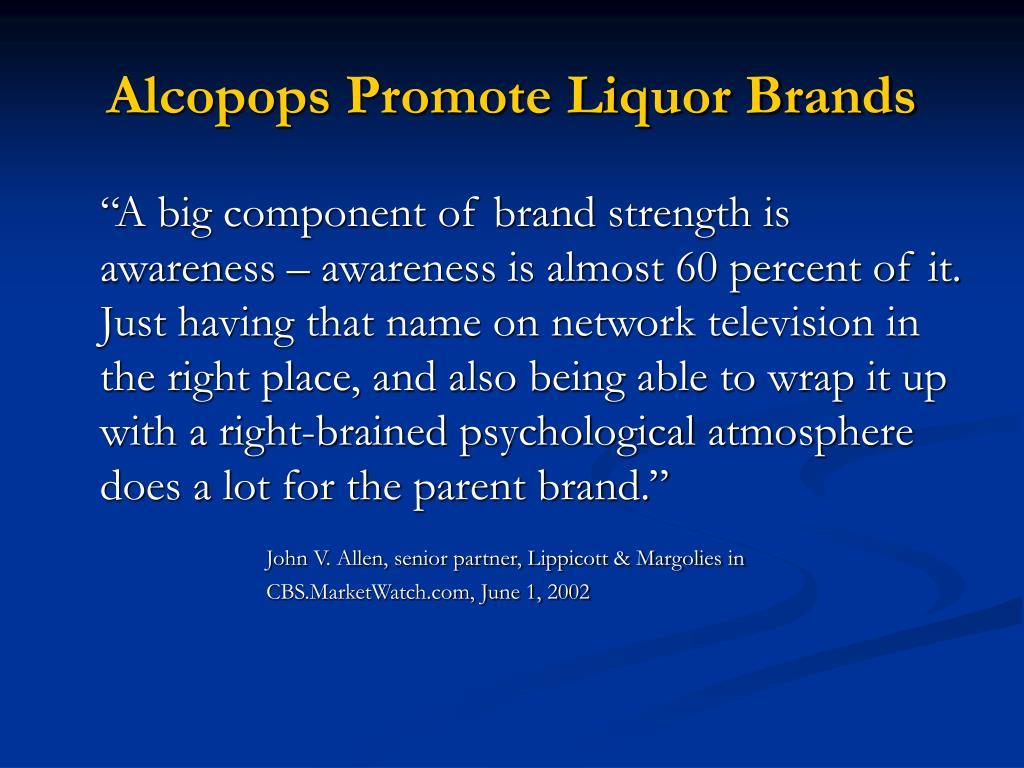 Alcopops Promote Liquor Brands