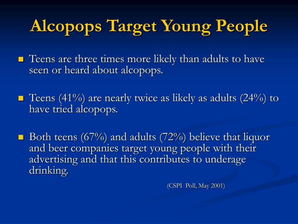 Alcopops Target Young People