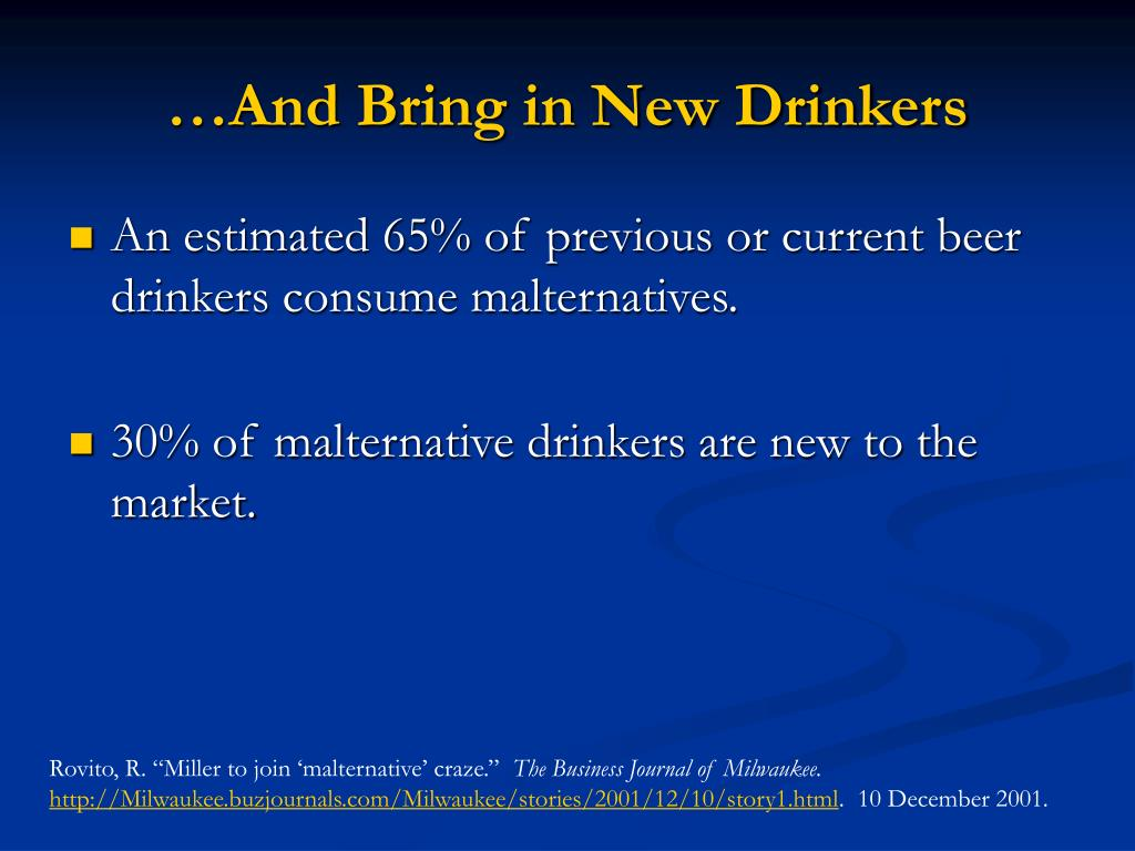…And Bring in New Drinkers