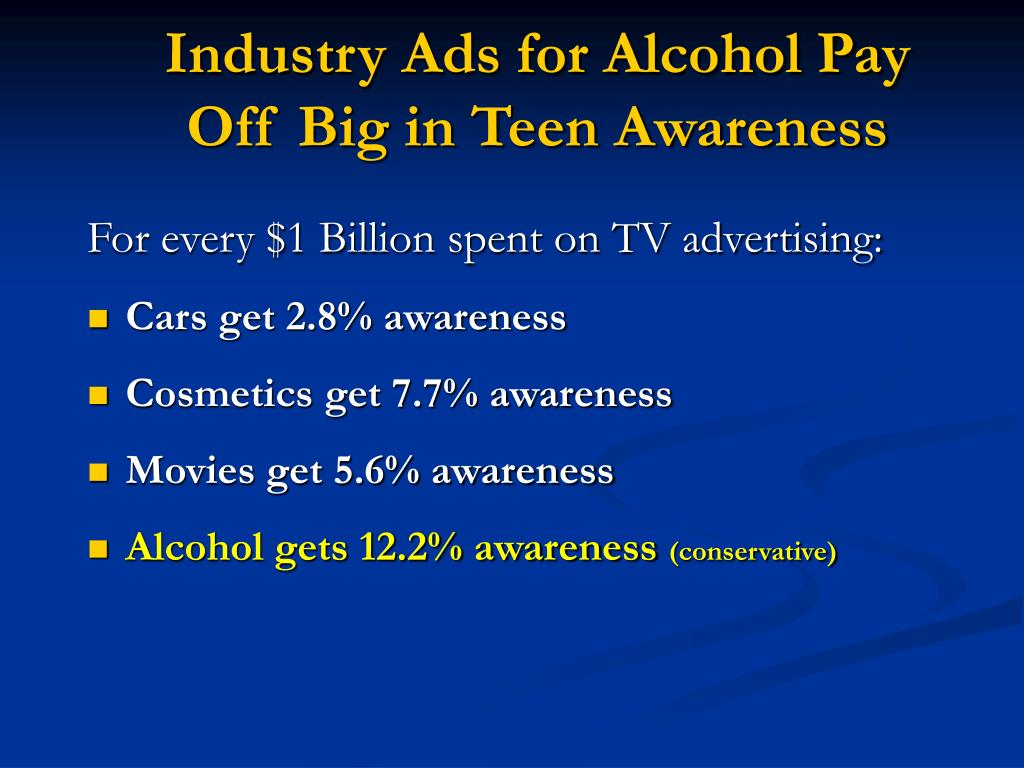 Industry Ads for Alcohol Pay