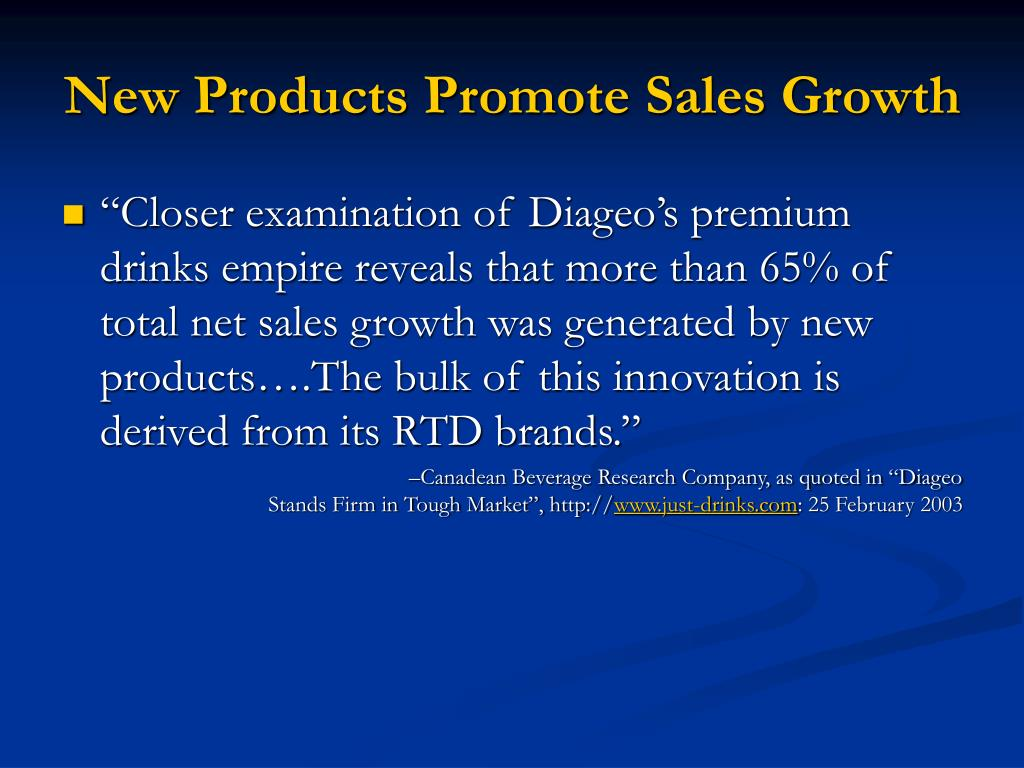 New Products Promote Sales Growth