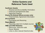 online systems and reference tools used
