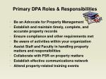 primary dpa roles responsibilities