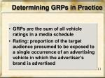 determining grps in practice