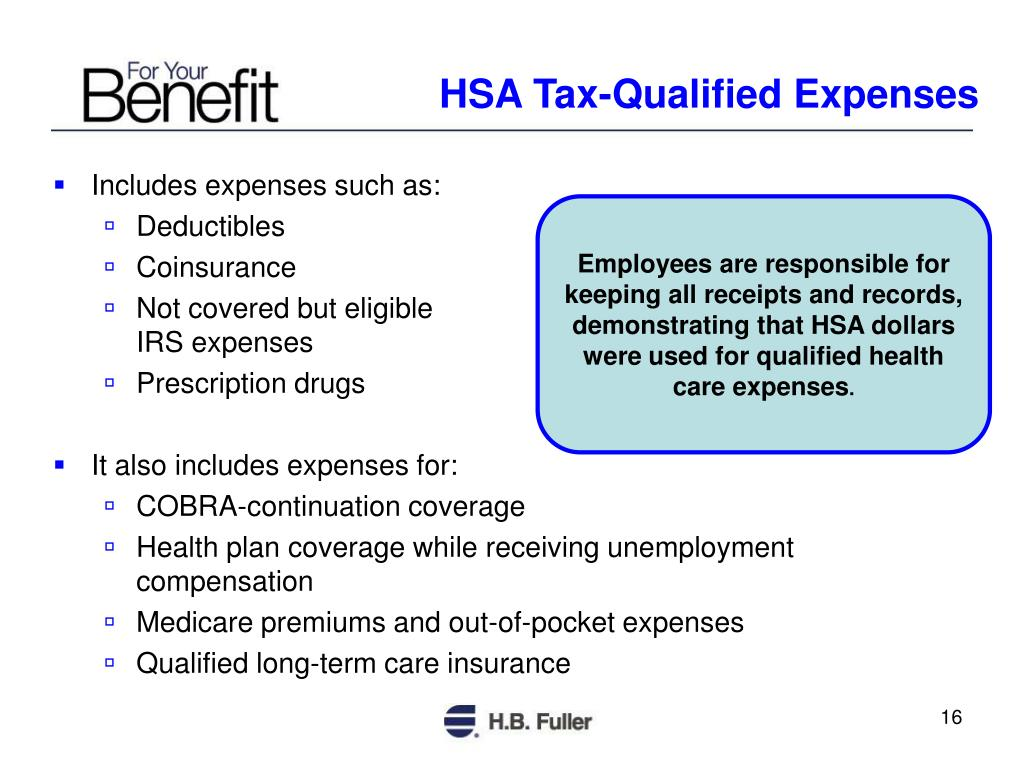 HSA Tax-Qualified Expenses