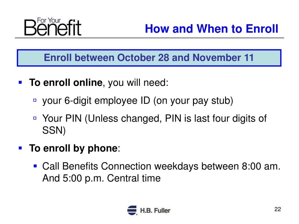 How and When to Enroll