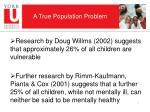 a true population problem
