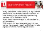 development of self regulation