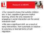research at mehri