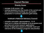 council review