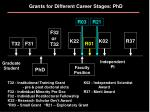 grants for different career stages phd