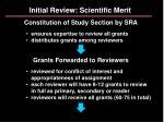 initial review scientific merit11