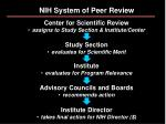 nih system of peer review