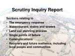 scrutiny inquiry report