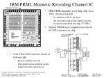 ibm prml magnetic recording channel ic