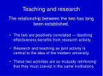 teaching and research the relationship between the two has long been established