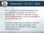 obviousness 35 u s c 103 a33