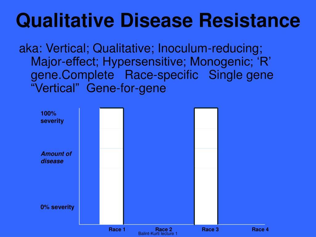 qualitative disease resistance l.