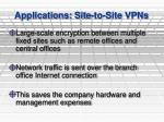 applications site to site vpns