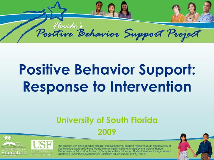 positive behavior support response to intervention n.