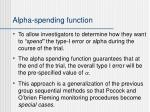 alpha spending function