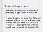 statistical stopping rules