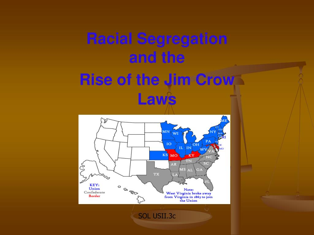racial segregation and the rise of the jim crow laws l.