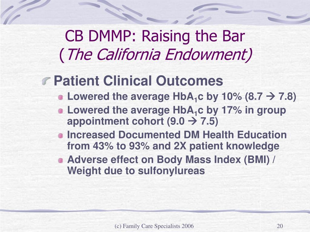 CB DMMP: Raising the Bar
