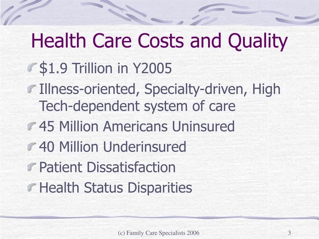 Health Care Costs and Quality