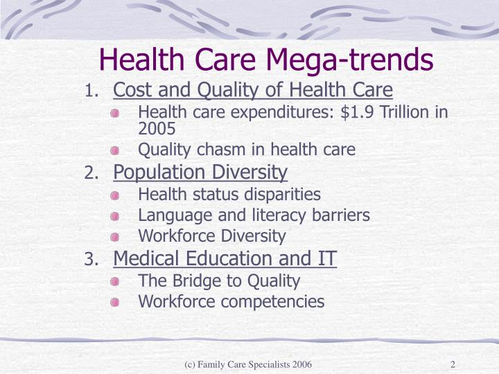 Health care mega trends