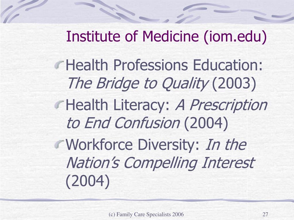 Institute of Medicine (iom.edu)