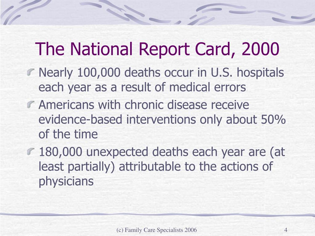 The National Report Card, 2000
