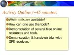 activity outline 45 minutes