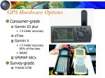 gps hardware options