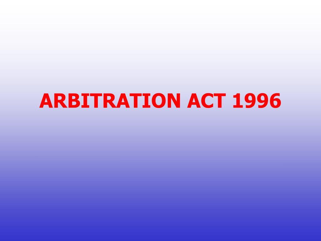 arbitration act 1996 l.