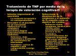 tratamiento de tnp por medio de la terapia de valoraci n cognitiva ii