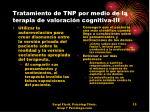 tratamiento de tnp por medio de la terapia de valoraci n cognitiva iii