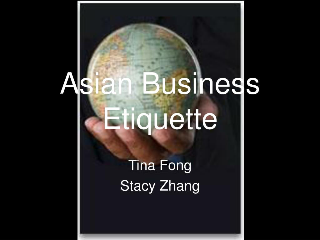 asian business etiquette l.