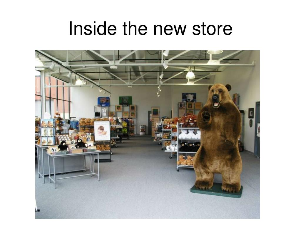 Inside the new store