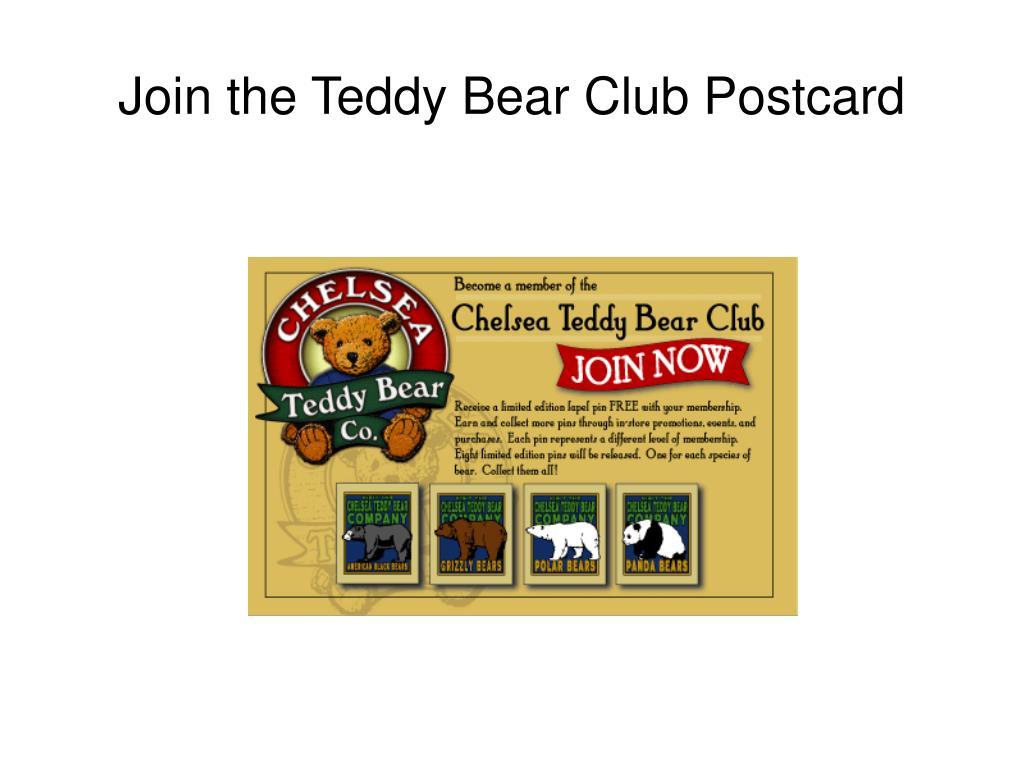 Join the Teddy Bear Club Postcard