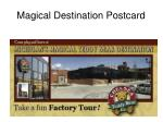 magical destination postcard