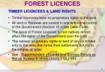 timber licencees land rights