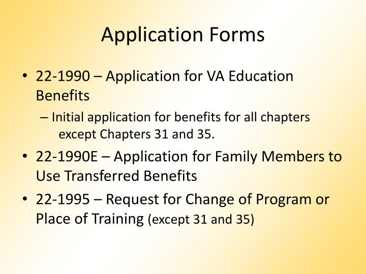 application-forms-n Va Form Application on va form 22 5495, va gi bill forms, va form 22 8864, va form 21 8416 claim,