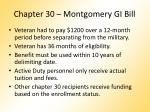 chapter 30 montgomery gi bill