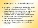 chapter 31 disabled veterans